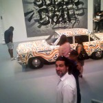 Mark and Keith Haring car